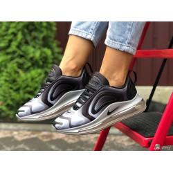 Модные женские,текстильные кроссовки Nike Air Max 720, серые с белым
