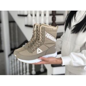 Высокие женские зимние ботинки Reebok, оливковые