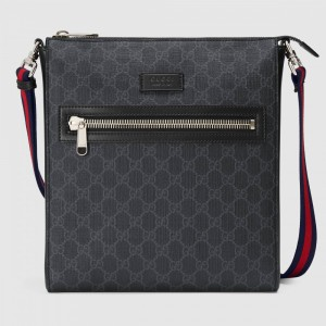 Gucci GG Supreme Messenger Black/Grey