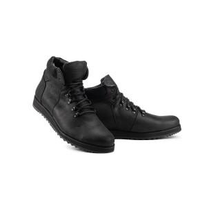 Мужские ботинки кожаные зимние черные Multi-shoes Boomer Великаны