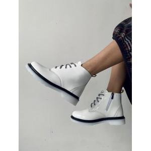 Женские ботинки кожаные зимние бежевые-лак Road-style БЖ-127-01-L