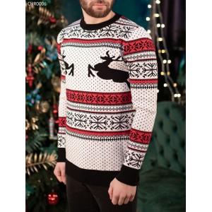 Вязаный свитер Staff white