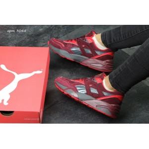 Женские кроссовки Puma Trinomic,бордовые с черным 40р
