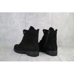 Ботинки женские Vikont 7-2-32 черные-матовые (натуральная кожа, зима)