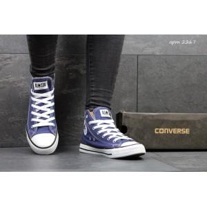 Женские Кеды Converse высокие темно-синие