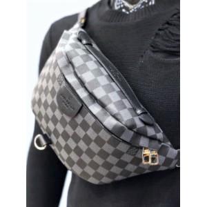 Сумка Louis Vuitton Bumbag Monogram серо-черная