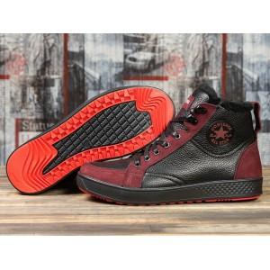Зимние кроссовки на меху Converse, черные (31161) размеры в наличии ► [ 40 41 42 43 44 45 ]
