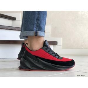 Мужские модные кроссовки Adidas Sharks,красные с черным
