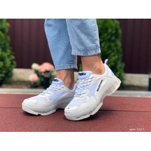 Модные женские кроссовки Balenciaga,Баленсиага,белые