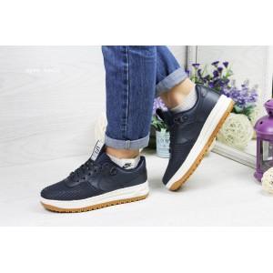 Подростковые,женские кроссовки Nike Lunar Force LF-1,темно синие