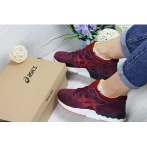 Женские,подростковые кроссовки Asics Gel-Lyte V бордовые