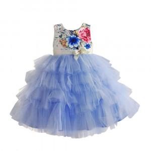 Платье для девочки Цветочные бутоны, голубой Zoe Flower