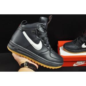 ботинки Nike Lunar Force 1 арт 20660 (зимние, найк, синие)