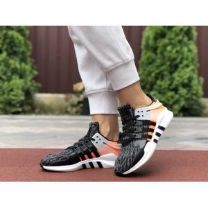 Летние кроссовки Adidas Equipment,сетка,черные с серым