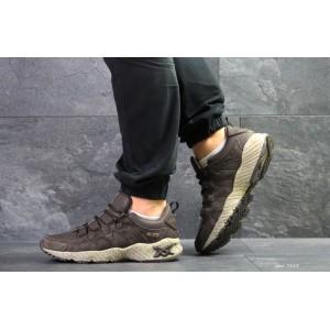 Мужские кроссовки Asics,замшевые,коричневые 45р