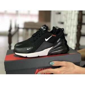 Женские кроссовки Nike Air Max 270,сетка,черно-белые