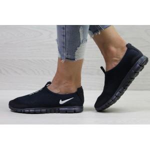 Подростковые кроссовки летние Nike Free Run 3.0 сетка,темно синие