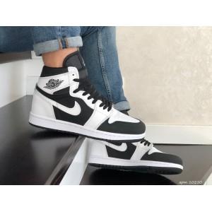 Кроссовки Nike Air Jordan,белые с черным.