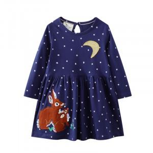 Плаття для дівчинки Hares under the moon Jumping Meters