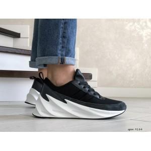 Мужские модные кроссовки Adidas Sharks,черно белые