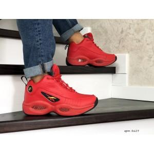 Высокие зимние кроссовки Reebok I3,красные,на меху 43р