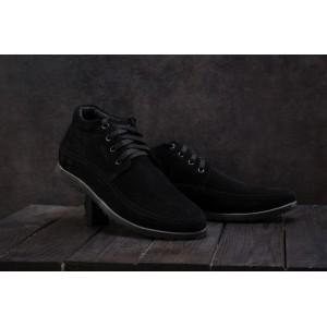 Ботинки Vankristi 927 (зима, мужские, замша, черный)