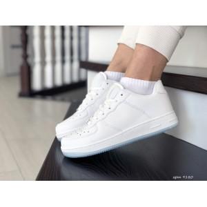 Весенние женские кроссовки Nike Air Force,белые