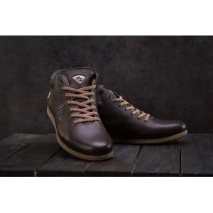Ботинки Milord Olimp (зима, мужские, натуральная кожа, коричневый)