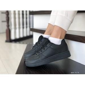 Весенние женские кроссовки Nike Air Force,черные