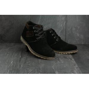 Ботинки Yuves Clarks 51 (зима, мужские, замша, черный)