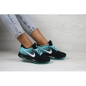 Женские кроссовки Nike air max 2017,черные с мятным