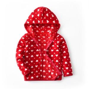 Кофта для девочки флисовая утеплённая Сердечки Berni