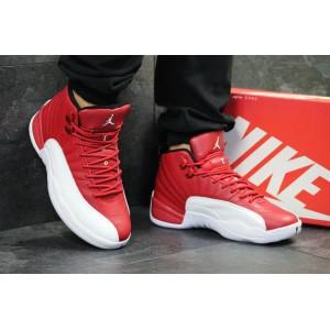 Мужские кожаные кроссовки Nike Jordan Jumpman,красные с белым