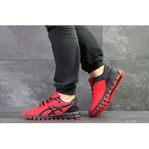 Мужские кроссовки Asics,сетка,красные