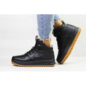 Зимние высокие кроссовки Nike Air Force LF- 1,черные