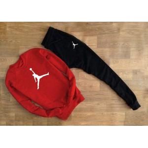 """Cпортивный костюм красный свитшот Jordan ( белый принт ) """""""" В стиле Jordan """"""""0938"""
