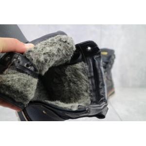 Ботинки мужские Rivest 30 черные (натуральная кожа, зима)