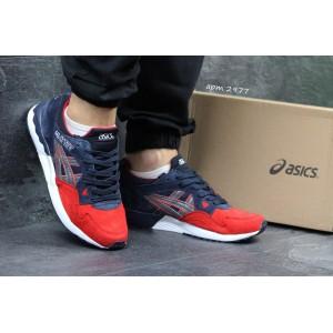 Кроссовки Asics Gel Lyte V замшевые,темно синие с красным