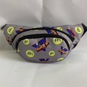 Бананка поясная сумка мужская женская детская Влад А4 Бумага серая