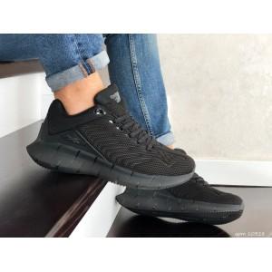 Весенние кроссовки Reebok,текстиль,черные