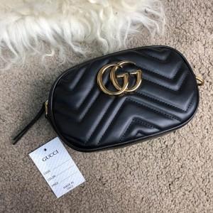 Gucci GG Marmont Matelassé Belt Bag Black