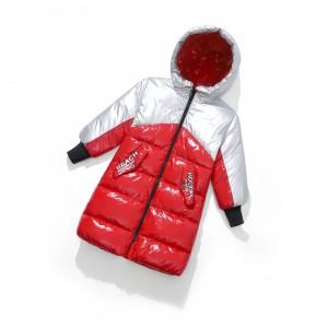 Куртка-пуховик детская Хром, красный Berni