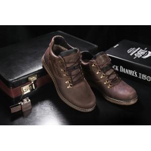 Ботинки Yuves 600 (Clarks) (зима, мужские, натуральная кожа, коричневый)