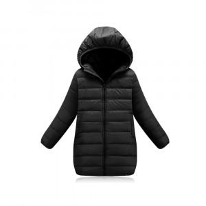 Куртка удлиненная весенняя детская, черный Berni