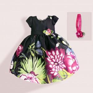 Платье для девочки с повязкой Георгины Zoe Flower