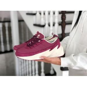 Подростковые зимние кроссовки Adidas Sharks,розовые
