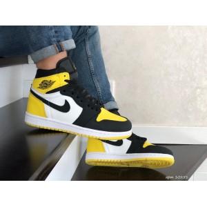 Кроссовки Nike Air Jordan,белые с желтым. Хит Весны 2021.