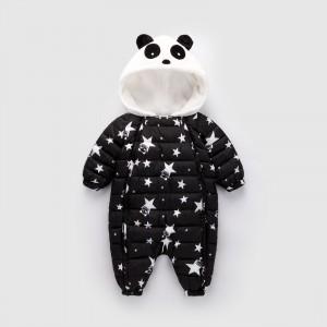 Комбинезон утепленный детский Звёздная панда, чёрный Berni