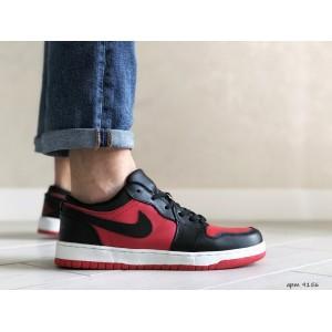 Мужские весенние кроссовки Nike Air Jordan 1 Low, красные с черным