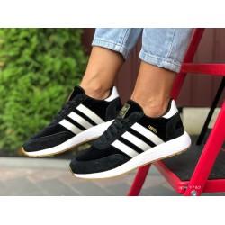 Женские (подростковые) кроссовки Adidas Iniki, черно-белые